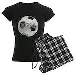 FootBall Soccer Women's Dark Pajamas