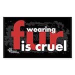 No Fur Stickers & Pins - Sticker (Rectangle)