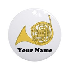 PERSONALIZED FRENCH HORN ORNAMENT