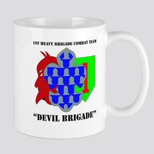 DUI - 1st Heavy BCT - Devil Brigade with Text Mug