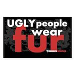 No Fur Stickers & Pins - Sticker (Rectangle 10 pk)