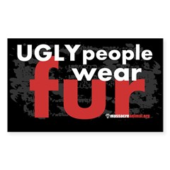 No Fur Stickers & Pins - Sticker (Rectangle 10 pk)