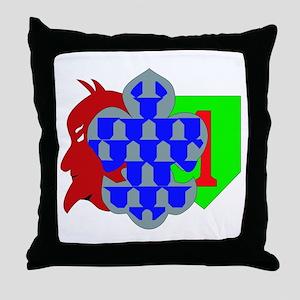 DUI - 1st Heavy BCT - Devil Brigade Throw Pillow