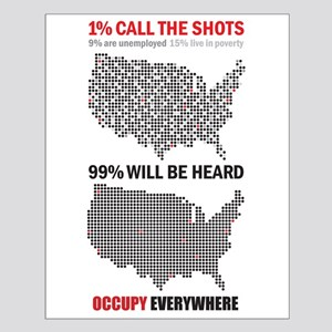 99 percent Small Poster