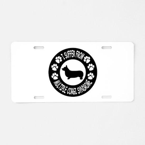 Corgi Aluminum License Plate