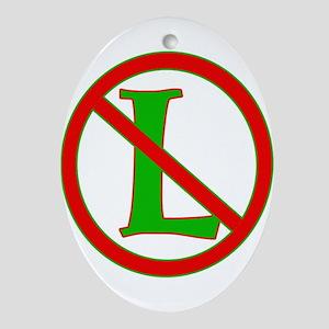 """Noel / No """"L"""" Ornament (Oval)"""