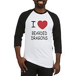 I heart bearded dragons Baseball Jersey