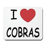 I heart cobras Mousepad