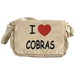 I heart cobras Messenger Bag