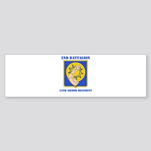 DUI - 2nd Bn - 34th Armor Regt with Text Sticker (