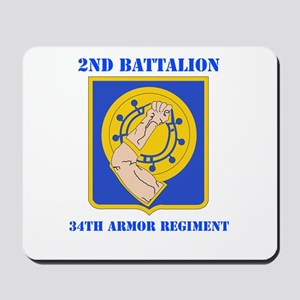 DUI - 2nd Bn - 34th Armor Regt with Text Mousepad