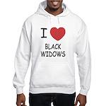 I heart black widows Hooded Sweatshirt