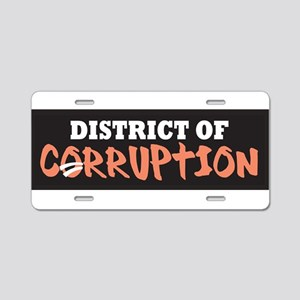 District of Corruption Aluminum License Plate