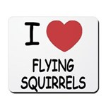 I heart flying squirrels Mousepad