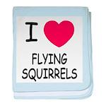 I heart flying squirrels baby blanket