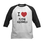 I heart flying squirrels Kids Baseball Jersey