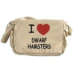I heart dwarf hamsters Messenger Bag