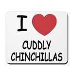 I heart cuddly chinchillas Mousepad