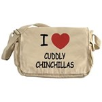 I heart cuddly chinchillas Messenger Bag