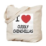 I heart cuddly chinchillas Tote Bag
