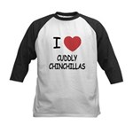 I heart cuddly chinchillas Kids Baseball Jersey