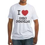I heart cuddly chinchillas Fitted T-Shirt