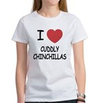 I heart cuddly chinchillas Women's T-Shirt