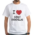 I heart cuddly chinchillas White T-Shirt