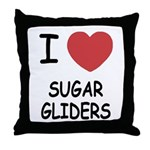 I heart sugar gliders Throw Pillow