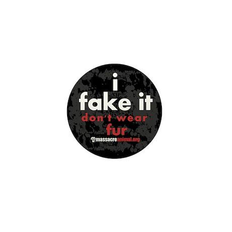 No Fur Stickers & Pins - Mini Button (10 pack)