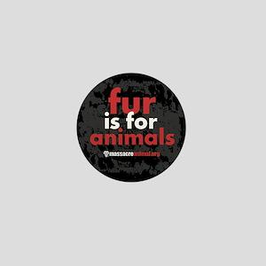 No Fur Stickers & Pins - Mini Button