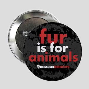 "No Fur Stickers & Pins - 2.25"" Button"