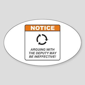 Deputy / Argue Sticker (Oval)