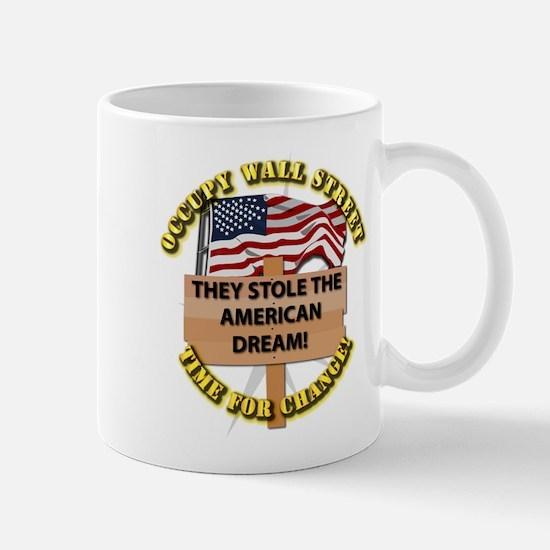 Occupy Wall Street - Time for Change Mug