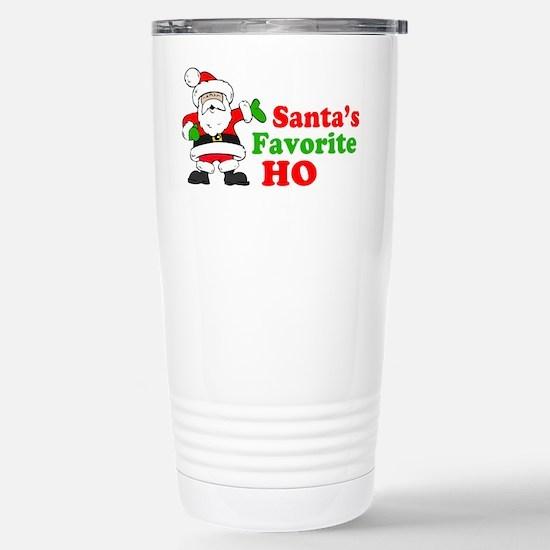 Santa's Favorite Ho Stainless Steel Travel Mug