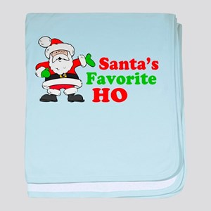 Santa's Favorite Ho baby blanket