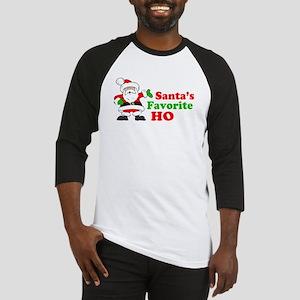 Santa's Favorite Ho Baseball Jersey