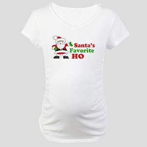 Santa's Favorite Ho Maternity T-Shirt