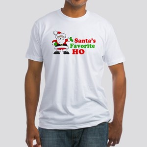 Santa's Favorite Ho Fitted T-Shirt