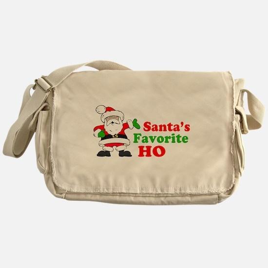 Santa's Favorite Ho Messenger Bag