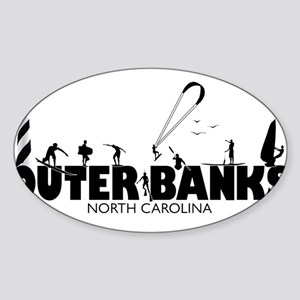 OBX Watersports Sticker (Oval)