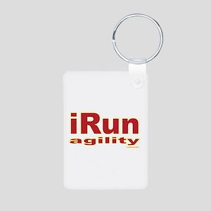iRun agility Red/Yellow Aluminum Photo Keychain