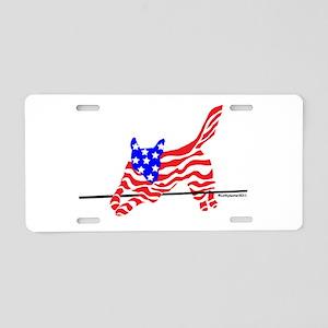 Agility Flag Dog Aluminum License Plate
