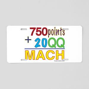 MACH formula Aluminum License Plate