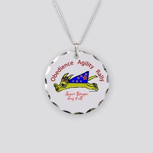 Super Doggie Does It All Necklace Circle Charm