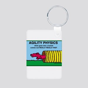 Agility Physics Aluminum Photo Keychain