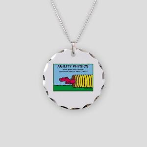 Agility Physics Necklace Circle Charm