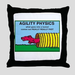 Agility Physics Throw Pillow
