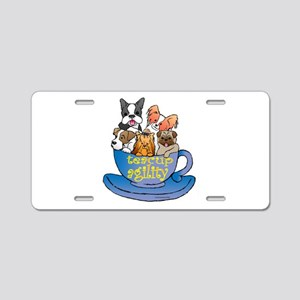 Teacup Agility Aluminum License Plate