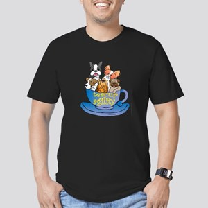 Teacup Agility Men's Fitted T-Shirt (dark)